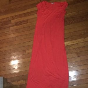 Gap orange cotton maxi dress, medium